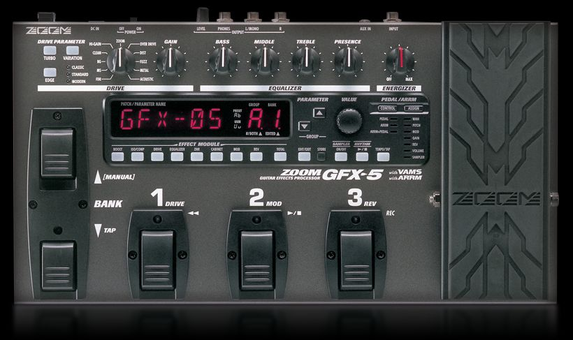zoom g1xon multi-effects pedal with expression pedal manual