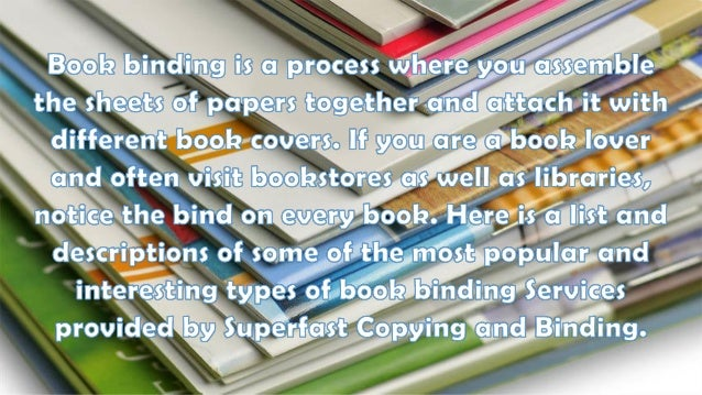 different kinds of manual binding